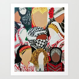 Palestinian Ladies Art Print