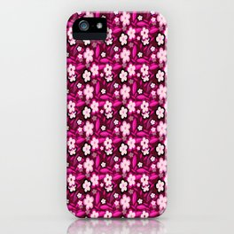 Pink Stylized Floral iPhone Case