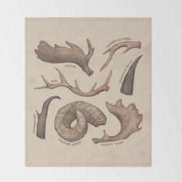 Antlers Throw Blanket