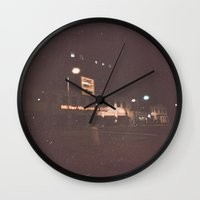 night sky Wall Clocks featuring Night Sky by Jane Lacey Smith