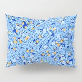 Bedtime Stories BLUE / Cartoon pencil pattern Pillow Sham