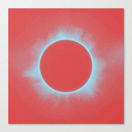 Solar Eclipse in Reddish Pink Canvas Print