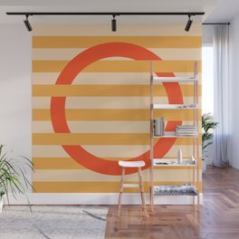 GEOMETRY ORANGE III Wall Mural