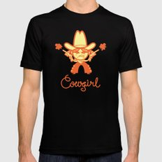 Cowgirl Mens Fitted Tee MEDIUM Black