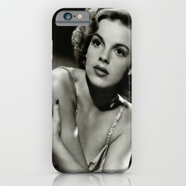 Judy Garland vintage photograph, housewarming gifts, Old Hollywood art, prints and posters, Judy Garland elegant portrait, style icons1 iPhone Case