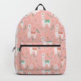 Lovely Llama on Pink Rucksack