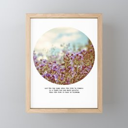 And the Day Came Framed Mini Art Print