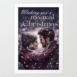 Captain Swan Magical Christmas Art Print