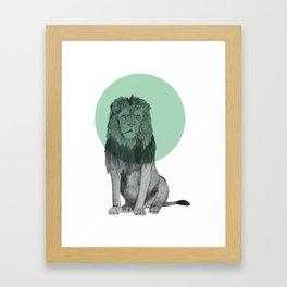 sitting lion Framed Art Print