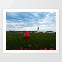 Marker Buoy and Lighthouse Art Print