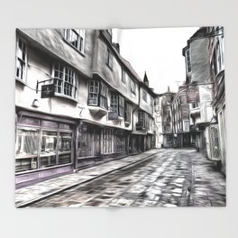 The Shambles York Art Throw Blanket