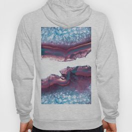 Double Light Blue and Pink Agate Hoody