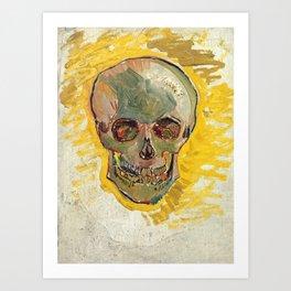 Skull by Vincent van Gogh, 1887 Art Print