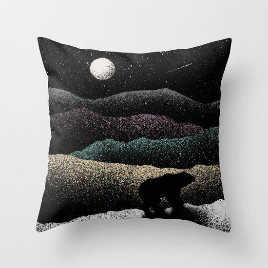 Wandering Bear Throw Pillow