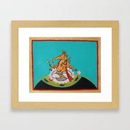 Wise Ganesh Framed Art Print