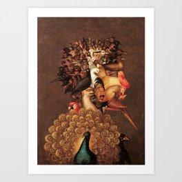 The Air by Giuseppe Arcimboldo - The Four Elements Art Print