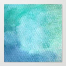 Blue Watercolor Texture Canvas Print
