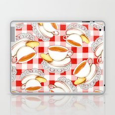 Cup of Tea, a Biscuit and Red Gingham Laptop & iPad Skin