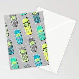 Vintage Cellphone Pattern Stationery Cards