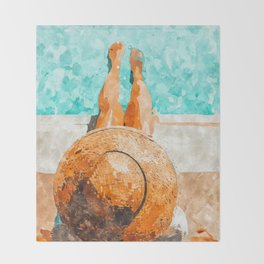 By The Pool All Day Throw Blanket