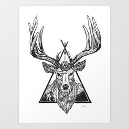 Solos Deer Art Print