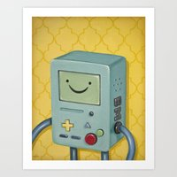 bmo Art Prints featuring BMO by HeatherAckley