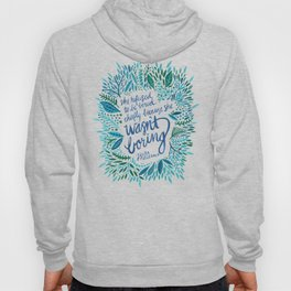 Zelda Fitzgerald – Blue on White Hoody