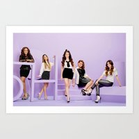 fifth harmony Art Prints featuring FIFTH HARMONY by Amélie Store