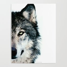 Wolf Art - Timber by Sharon Cummings Poster