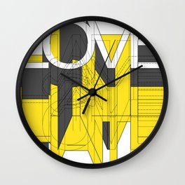HATE LOVE Wall Clock