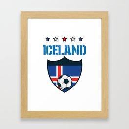 Iceland 2018 World Football 2018 - Iceland Flag Framed Art Print