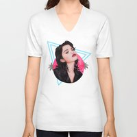 sky ferreira V-neck T-shirts featuring Sky by Will Costa