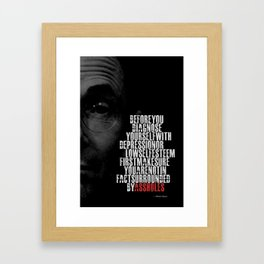 William Gibson Famous Quote... Framed Art Print