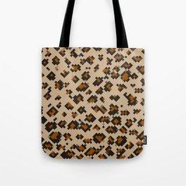 Pixelated Leopard Tote Bag