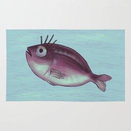 Funny Fish With Fancy Eyelashes Rug