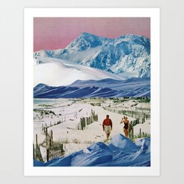 Snow Beach Art Print