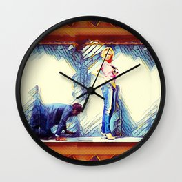 Falling Behind Wall Clock