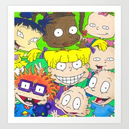 Rugrats Nickelodeon Angelica Tommy Chuckie 90s nicktoons Art Print