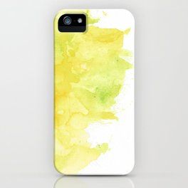 Yellow Watercolor iPhone Case