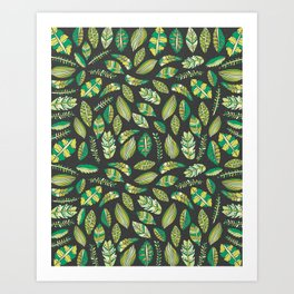 Night Tropical Jungle Art Print