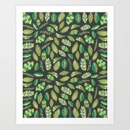 Night Tropical Jungle Art Print