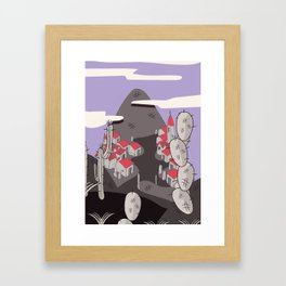 Mexican village Framed Art Print