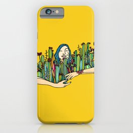 Hug a plant iPhone Case