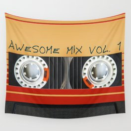 Awesome Mix Cassette Vol.1 Wall Tapestry