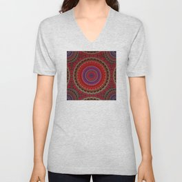 red county  Mandala Unisex V-Neck