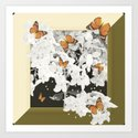 Hydrangea And Butterflies in Frame #decor #society6 by pivivikstrm