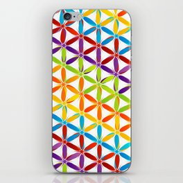 Colorful geometry pattern with stars and sparkles iPhone Skin