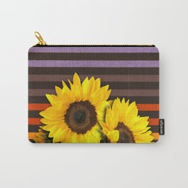 FUN STRIPES-SUNFLOWERS Carry-All Pouch