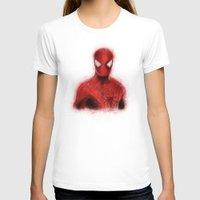 spider man T-shirts featuring Spider-Man by KitschyPopShop
