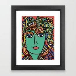 The Empress Pop Art Cubism Tarot Card by Emmanuel Signorino Framed Art Print